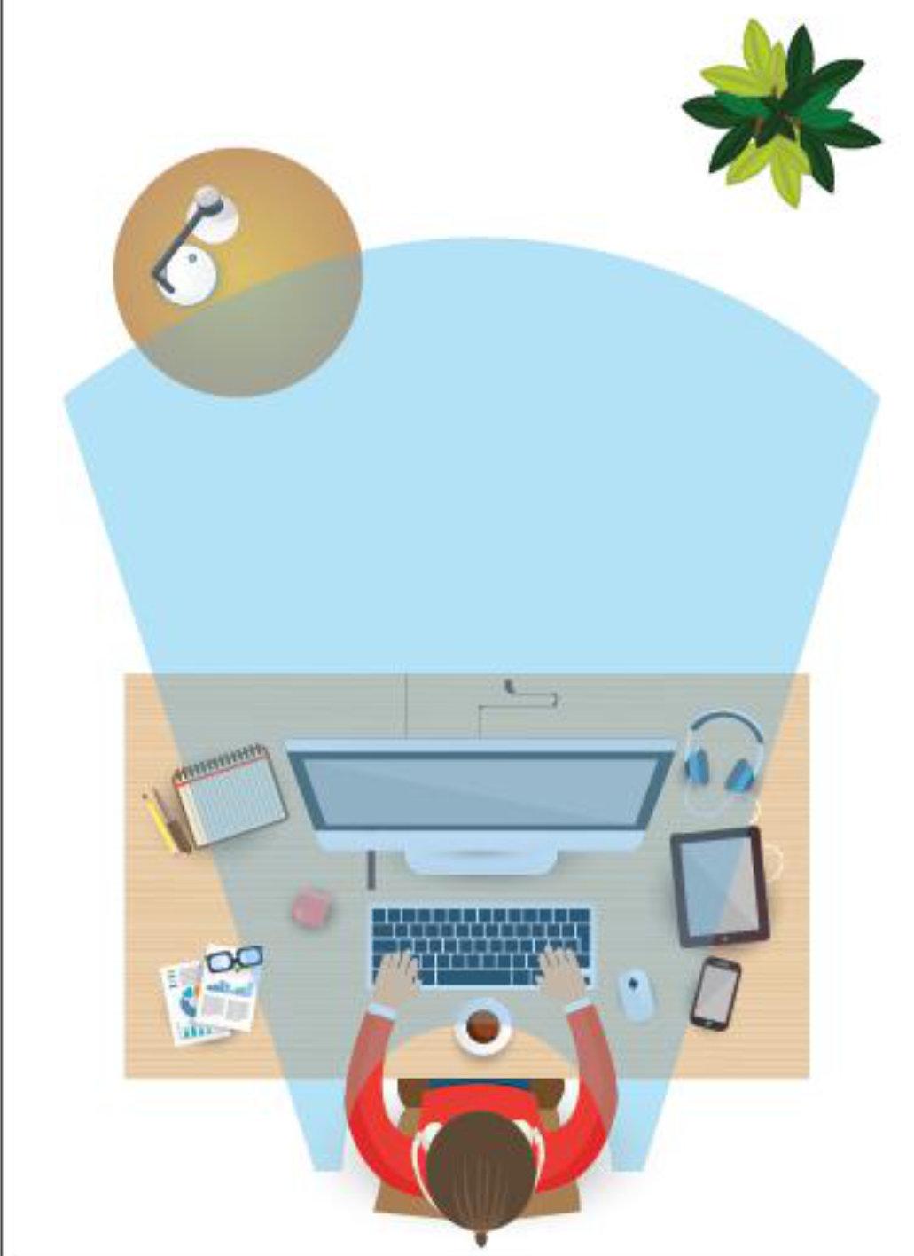 Arbejdspladsen med skærm