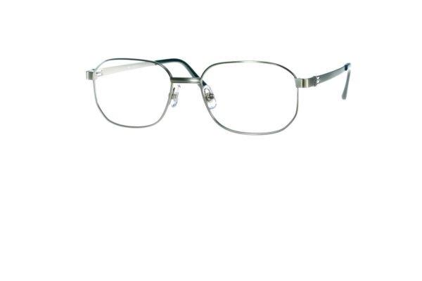Klassisk rektangulær brille i sølv