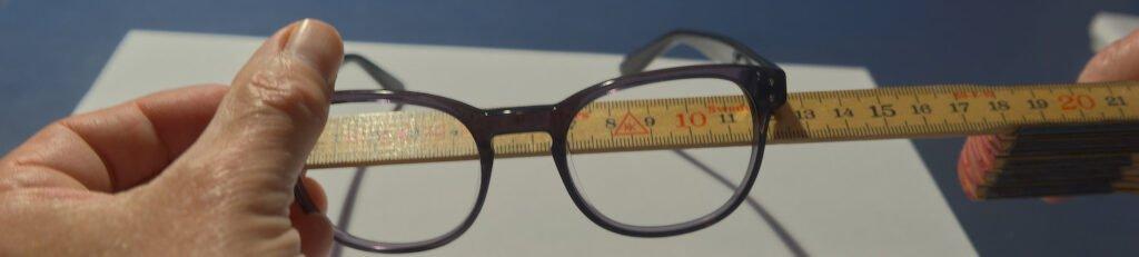 Måling af brillestellets bredde